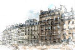 Esboço de Paris ilustração stock
