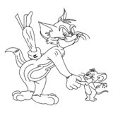 Esboço de personagem de banda desenhada ilustração do vetor