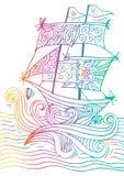 Esboço de um veleiro Fotos de Stock
