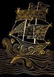 Esboço de um veleiro Foto de Stock Royalty Free