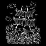 Esboço de um veleiro Imagem de Stock