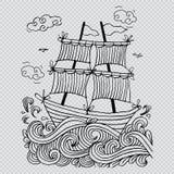 Esboço de um veleiro Foto de Stock