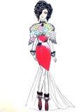 Esboço de vestidos elegantes Foto de Stock Royalty Free
