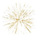 Esboço de vidro quebrado do branco do ouro da textura do grunge do furo Imagens de Stock Royalty Free