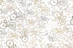 Esboço decorativo e mão tirado de ilustrações da bicicleta Arte, projeto, detalhes & Web ilustração do vetor