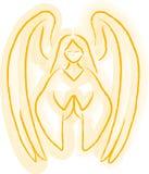 Esboço do anjo ilustração royalty free