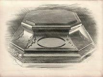 Esboço do assento ilustração stock
