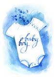 Esboço do azul da aquarela Fotografia de Stock Royalty Free