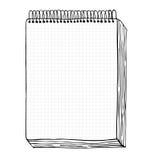 Esboço do caderno. Vector a ilustração com a folha tirada mão do caderno. Clipart Fotos de Stock Royalty Free