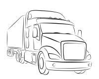 Esboço do caminhão grande Imagem de Stock