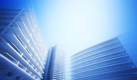 Esboço do centro de negócios Imagem de Stock