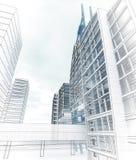 Esboço do centro de negócios. Fotos de Stock