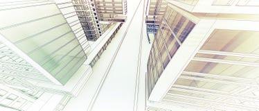 Esboço do centro de negócios. Imagens de Stock Royalty Free