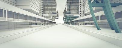 Esboço do centro de negócios. Imagem de Stock