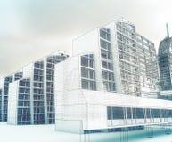 Esboço do centro de negócios. Foto de Stock