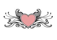 Esboço do coração Fotografia de Stock