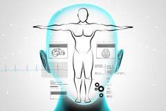 Esboço do corpo humano Imagem de Stock