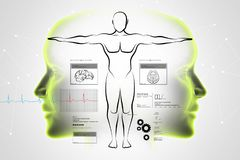 Esboço do corpo humano Foto de Stock