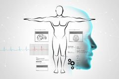 Esboço do corpo humano Fotografia de Stock Royalty Free