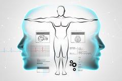 Esboço do corpo humano Imagens de Stock