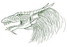 Esboço do dragão Fotografia de Stock Royalty Free