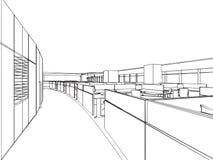 Esboço do esboço de um interior Foto de Stock
