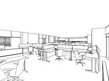 Esboço do esboço de um interior Fotos de Stock