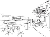 Esboço do esboço de um interior Imagem de Stock