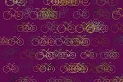 Esboço do fundo, da textura ou do contexto tirado mão do sumário da bicicleta Desarrumado, molde, detalhes & conceito ilustração do vetor