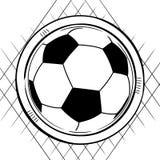 Esboço do futebol do futebol no branco Imagem de Stock