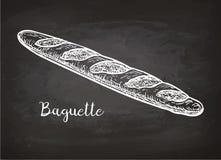 Esboço do giz do bagette Imagem de Stock Royalty Free