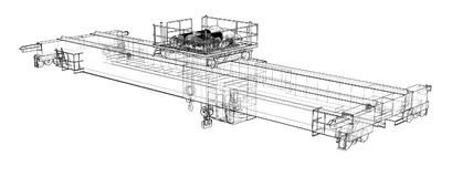 Esboço do guindaste aéreo Vetor ilustração stock