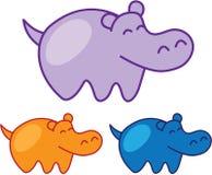 Esboço do hipopótamo Imagem de Stock
