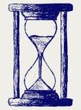 Esboço do Hourglass ilustração royalty free