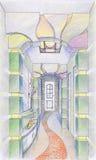 Esboço do interior do corredor Fotografia de Stock Royalty Free