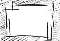 Esboço do lápis do frame vazio Imagem de Stock Royalty Free