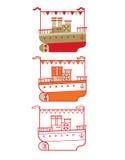 Esboço do navio de cruzeiros Foto de Stock