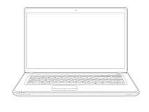 Esboço do portátil Imagem de Stock