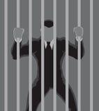 Esboço do prisioneiro do negócio imagens de stock