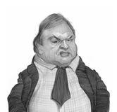 Esboço do retrato da caricatura de Evangelos Venizelos Fotografia de Stock Royalty Free