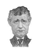 Esboço do retrato da caricatura de Fernando Santos Fotografia de Stock