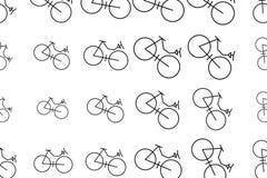 Esboço do sumário do fundo das ilustrações da bicicleta, textura tirada mão Vetor, detalhes, desarrumado & molde ilustração royalty free