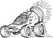 Esboço do veículo do carro blindado Fotografia de Stock