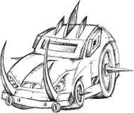 Esboço do veículo do carro blindado Imagens de Stock Royalty Free