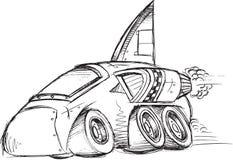 Esboço do veículo do carro blindado Fotos de Stock