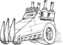 Esboço do veículo do carro blindado Fotos de Stock Royalty Free