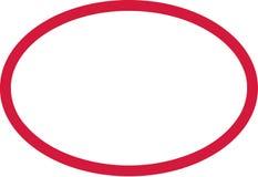 Esboço do vermelho do círculo ilustração royalty free