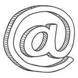 Esboço do vetor no símbolo Ícone do email fotos de stock royalty free