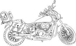 Esboço do vetor uma motocicleta Imagem de Stock