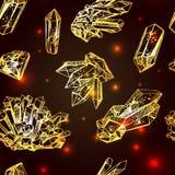 Esboço dos cristais ilustração stock